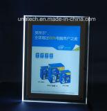 Folha de placa em acrílico Crystal Whilte/RGB LED fina caixa de luz