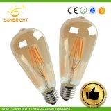 4W 6W 8W Lumière LED populaire E27 B22 A60 Ampoule LED blanc chaud