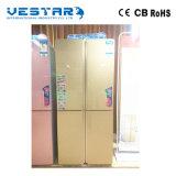 2 puertas doblan el refrigerador de la temperatura y el congelador/los refrigeradores comerciales/gemelo del gas