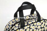 Novo Estilo Daisy Flower fundo preto Canvas saco cosméticos (-1709038 SEXT)