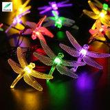 O RGB colore a luz solar da corda do diodo emissor de luz do Fairy da libélula