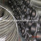 Manguito acanalado del metal de la alta calidad con el tejido