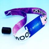 Braccialetto classico del Wristband tessuto RFID 1K della gestione MIFARE di evento