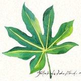 Pintura al Óleo hechas a mano mayoristas de hoja verde para el arte de pared