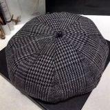 Kundenspezifisches Form-Check-Muster-Zeitungsjunge-Schutzkappen-Hut-Barett