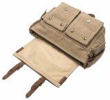 Singolo sacchetto della tela di canapa multifunzionale dell'uomo 2018 con il disegno pesante classico della cinghia del cotone delle grandi caselle