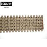 Hairise 1500 flache Oberseite-Plastikkettenförderband für Lebensmittelindustrie
