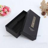 Color negro estampado cartón Pluma de Plata Caja de regalo