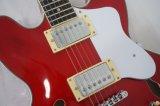 Guitare électrique bon marché de jazz de couleur du vin de corps de voûte des prix à vendre