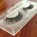 Luxuriöser Nerz-Haar-Pelz-falsche Wimpern der Peitsche-3D mehrschichtiger handgemachter
