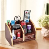 All in One Wooden Storage Holder with Drawer