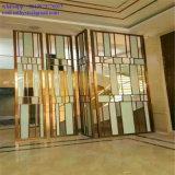 Tela decorativa de dobramento do metal do aço inoxidável de divisor de quarto da tela
