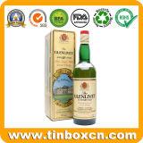 술병 포장 상자를 위한 경첩을 단 스코틀랜드 위스키 금속 주석 상자