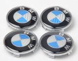 Coperchio del distintivo di marchio dell'emblema della rotella delle protezioni del centro del mozzo della fibra 68mm del carbonio del nero blu per BMW