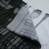 Bâtiment urbain 100 % polyester imprimé de rideau de douche sans garniture