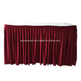 Count Clothes Cheap Rectangular Table Skirt for Banquet Wedding