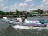 Liya 6,6 m en fibre de verre nervure gonflable Bateau de pêche avec des moteurs hors-bord