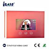 美しい5つのインチのビデオパンフレットまたはデジタルビデオBusniessカードかビデオ挨拶状