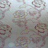 Tessuto del tricot stampato fiocco dell'oro per il materasso