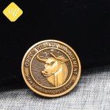 Fabrik-Preis-Zoll spricht Andenken-Knochen gebissene alte Kräuselung-Münze zu