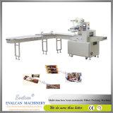 Máquina de embalagem do rolo da bolacha do biscoito do ovo do equipamento da padaria da máquina de empacotamento do alimento de três enchimento de formação automático servo e selagem