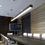 사무실 점화를 위한 두 배 옆 발광, 호리호리한 선 현대 디자인 사용 왔다갔다 선형 현탁액 LED 빛,