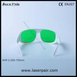 Laserpairからの2018の新しい到着600-700nm O.D6+のレーザーの安全ガラス及びレーザーの防護眼鏡
