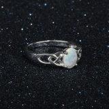 Joyería de plata creada del anillo de diamante del oro de la manera del anillo 925 del ópalo