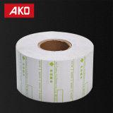 OEM keurt het Semi Glanzende Etiket van de Winkel van het Met een laag bedekte Document Geschikt om de Zelfklevende Sticker van het Etiket goed Te verpakken