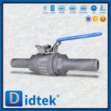Didtek de acero inoxidable de alta presión A105n de la válvula de bola flotante