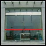 Lève-vitre coulissante de porte patio en aluminium double vitrage automatique Low-E porte en verre