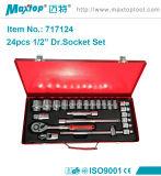"""1/2"""" Bi-Hex Caixa Chave Sextavada 24PCS de ferramenta de soquete"""