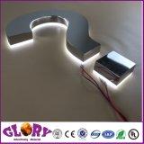 Sinal da letra de canaleta do diodo emissor de luz do aço inoxidável/Signage personalizados da loja