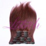"""10-26 """" natürlicher gerade 3/4 voller Hauptclip in den Haar-Extensionen"""