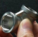 Montaje del tubo de acero inoxidable SS304 BSPT Tornillo de rosca NPT 3/8 Codo de 90 pulg.