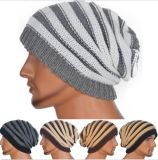 2017 Fashion coton Tricot chaud Stripe Beanie Hat Cap