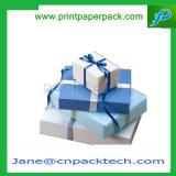 Cadre de empaquetage de papier de boucle de boucles d'oreille de bijou de boîte-cadeau de fantaisie de Noël