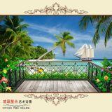 Badezimmer-keramische glasig-glänzende Wand-Fliese des Tintenstrahl-3D in China