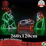 IP65 1,5M LED grande Natividade 3 Sábios Holiday Piscina Luz de Natal para decoração de grama