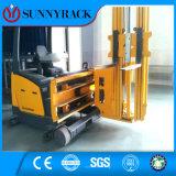Forklift tripartido cremalheira elevada usada da pálete de Vna da utilização do espaço