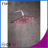 Fyeer Chromado Chuveiro Cabeça 3 Cor Changed LED Slim Faucet