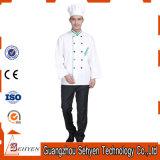 Disegno uniforme del rivestimento di disegno del cuoco unico del cuoco del ristorante e del cuoco unico