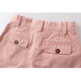 Moda Loose El rosa llano niñas de algodón Pantalones cortos