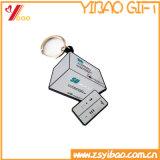 Abitudine morbida Rotondo-A forma di di Keychain del silicone e del PVC (XY-HR-84)