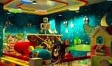 El techo del árbol del bosque juegos de juegos para niños Parque infantil al aire libre