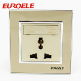 13A 250V 3 Pole Gold 86 * 86mm Prise murale USB