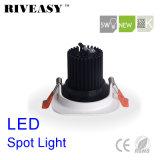 5W квадратных Aliuminum початков индикатор черного цвета светодиодного освещения набегающей Светодиодный прожектор