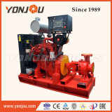 Motor diesel el extremo de circulación de la lucha contra incendios de succión de bomba de agua centrífuga