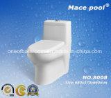 Toilette d'une seule pièce en céramique de Siphonic de marque de syndicat de prix ferme de macis (8008)