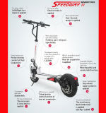 Жир шины колеса новейших 2017 Citycoco скутера с электроприводом